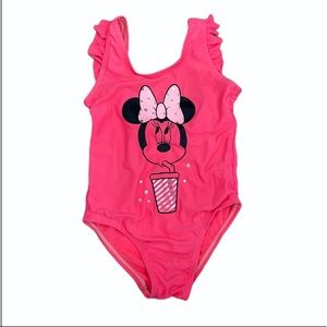 DISNEY MINNIE MOUSE Pink Bathing Suit One Piece